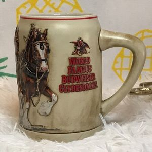 World Famous Budweiser Clydesdale Stein